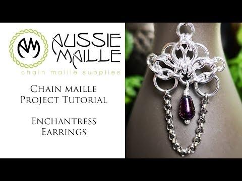 Chain Maille Tutorial - Enchantress Earrings