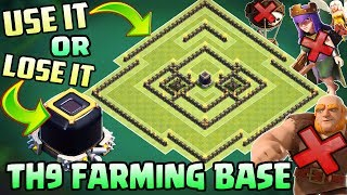 Town Hall 9 (TH9) Dark Elixir Farming Base - 2018 | DE Protection | With 5 Replays | Clash Of Clans