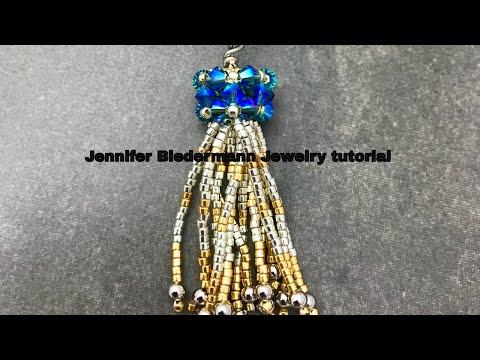 Silver & Gold tassel pendant
