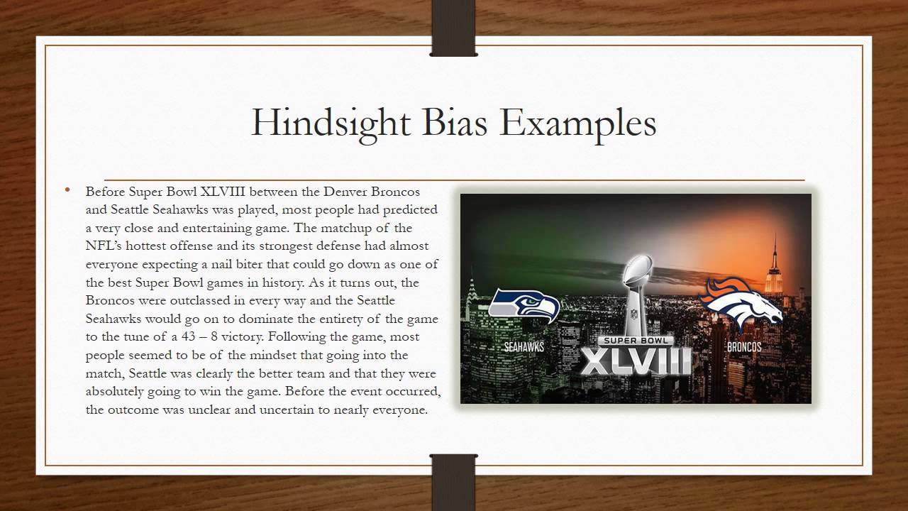 Hindsight Bias Video Youtube