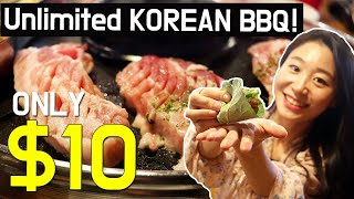 $10 All You Can Eat Unlimited Korean BBQ Buffet in Seoul, Korea