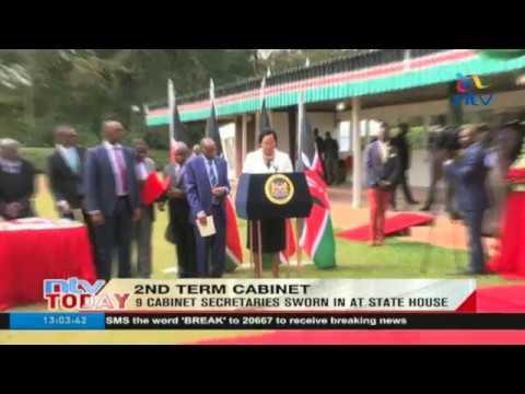 9 cabinet secretaries sworn in at State House