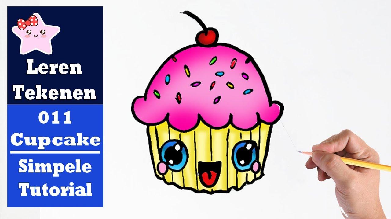 Diy Hoe Teken Je Een Cupcake Kawaii Beginners Tekenen