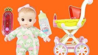 Baby doll stroller & bed toy 콩순이 아기 유모차 장난감