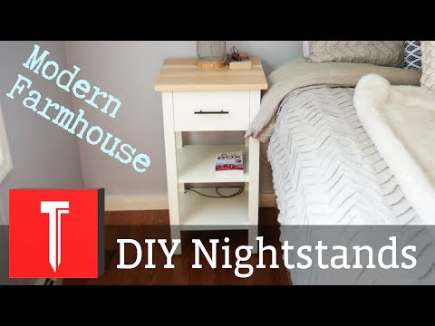 Modern Farmhouse Nightstands! || DIY Step by Step Plans