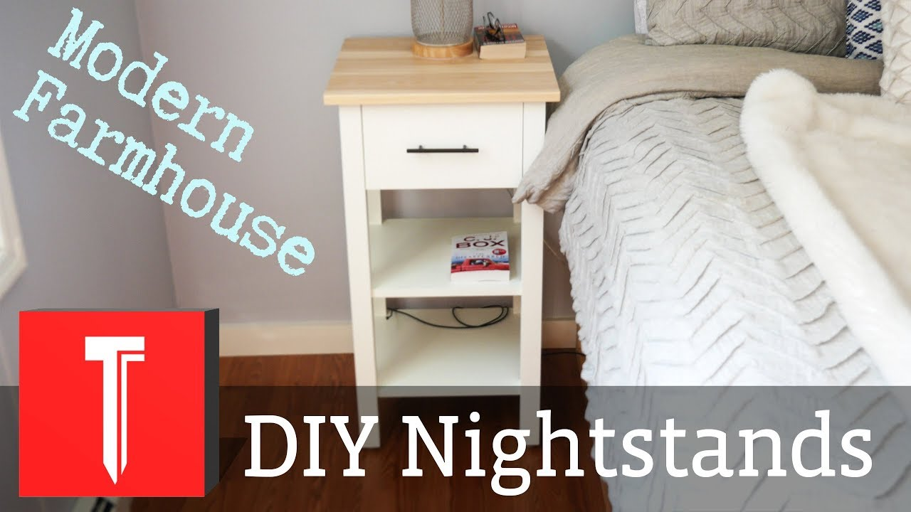 Modern Farmhouse Nightstands Diy Step By Step Plans Youtube