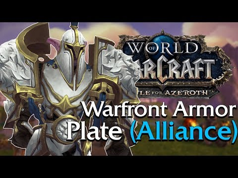 Warfront Armor: Plate Tier 1-3 (Alliance) In Game Preview | World Of Warcraft