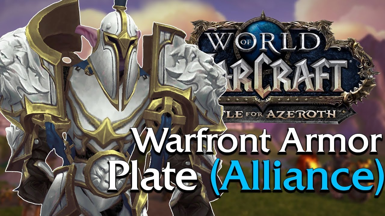 Warfront Armor Plate Tier 1 3 Alliance In Game Preview World Of