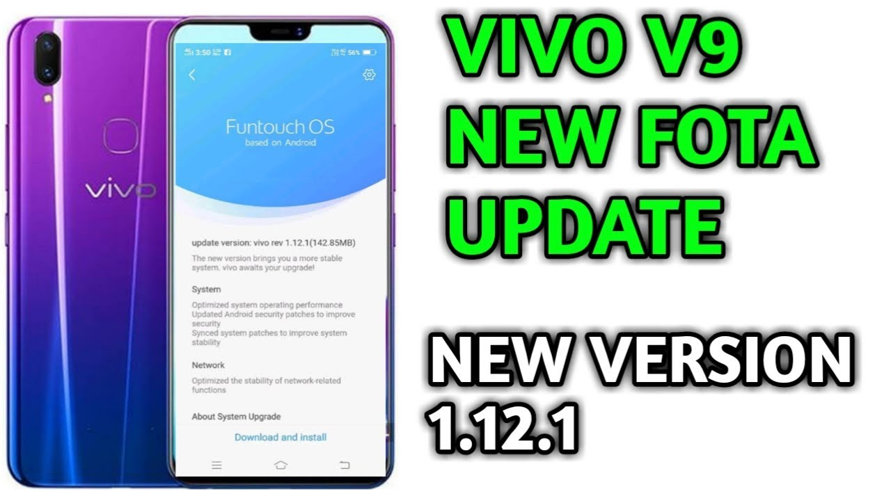 Vivo V9 new fota update new version 1 12 1 good News [HINDI]