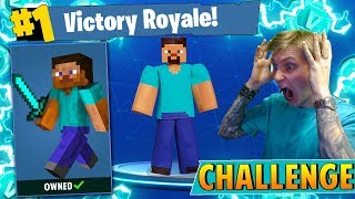 The Minecraft Steve CHALLENGE in Fortnite: Battle Royale