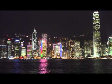 Hong Kong Victoria Harbor Night View HD