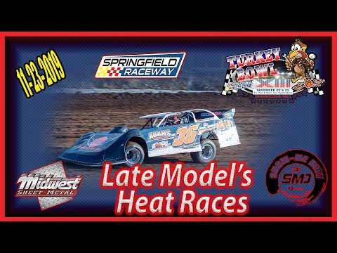 Late Model's Heat Races - Turkey Bowl Xlll Springfield Raceway 11-24-2019