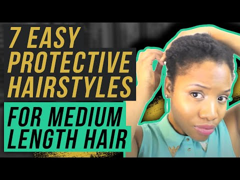 7 Easy Protective Hairstyles For Medium Length Natural Hair Youtube