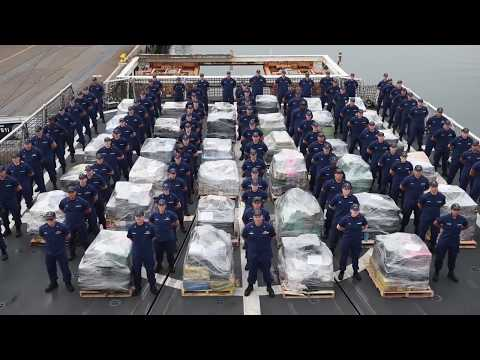USCG offloads approx. 18 tons of cocaine from Eastern Pacific interdictions in San Diego