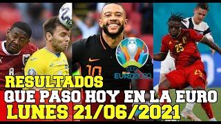 Eurocopa - Que paso hoy Lunes 21/06/2021 en la EURO Resultados - Cerro el Grupo B y C