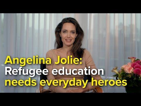 UNHCR Special Envoy Angelina Jolie congratulates a true hero