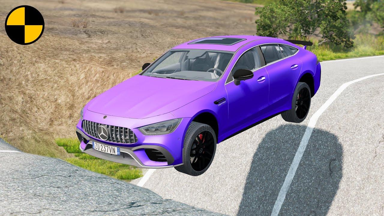 Cars vs Massive Potholes 😱 BeamNG.Drive