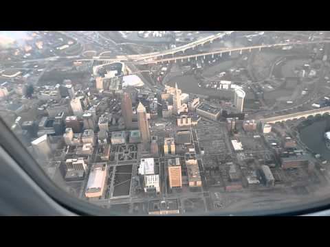 CRJ-900 landing at Cleveland Hopkins Int'l airport.