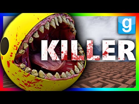 KILLER PACMAN CHALLENGE?!?! Gmod Killer Pacman Maze