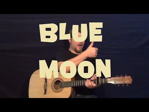 Blue Moon (The Marcels) Easy Strum Guitar Lesson How to Play Tutorial