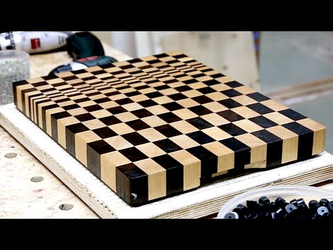making a 3d end grain cutting board 9 youtube. Black Bedroom Furniture Sets. Home Design Ideas