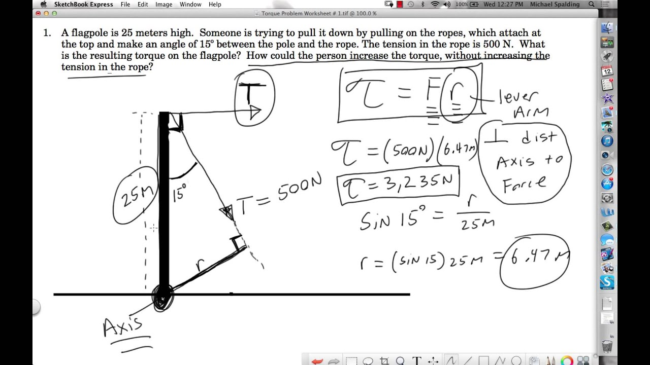 Torque Worksheet Answers