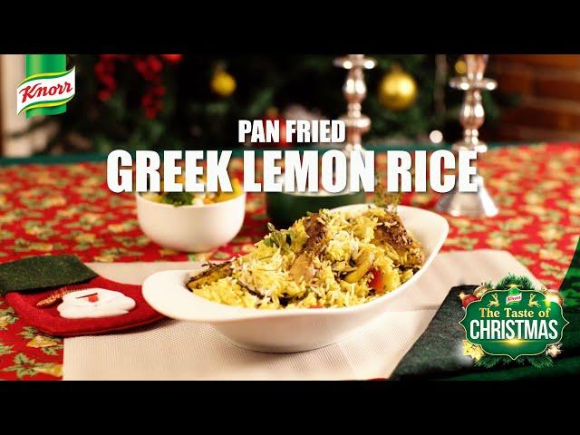Taste of Christmas - Pan Fried Greek Lemon Rice