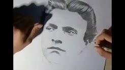 Speed Drawing - Vasil Levski -- Бързокадърна скица на Васил Левски