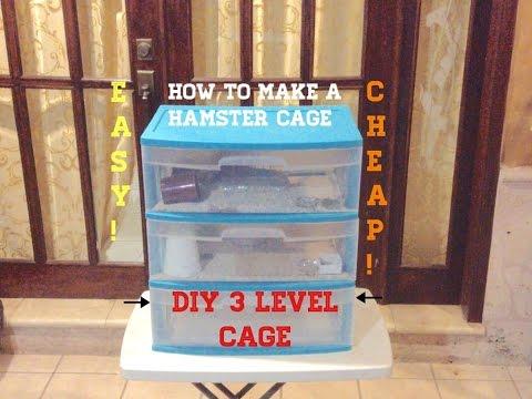 Diy critter bin cage doovi for Hamster bin cage tutorial
