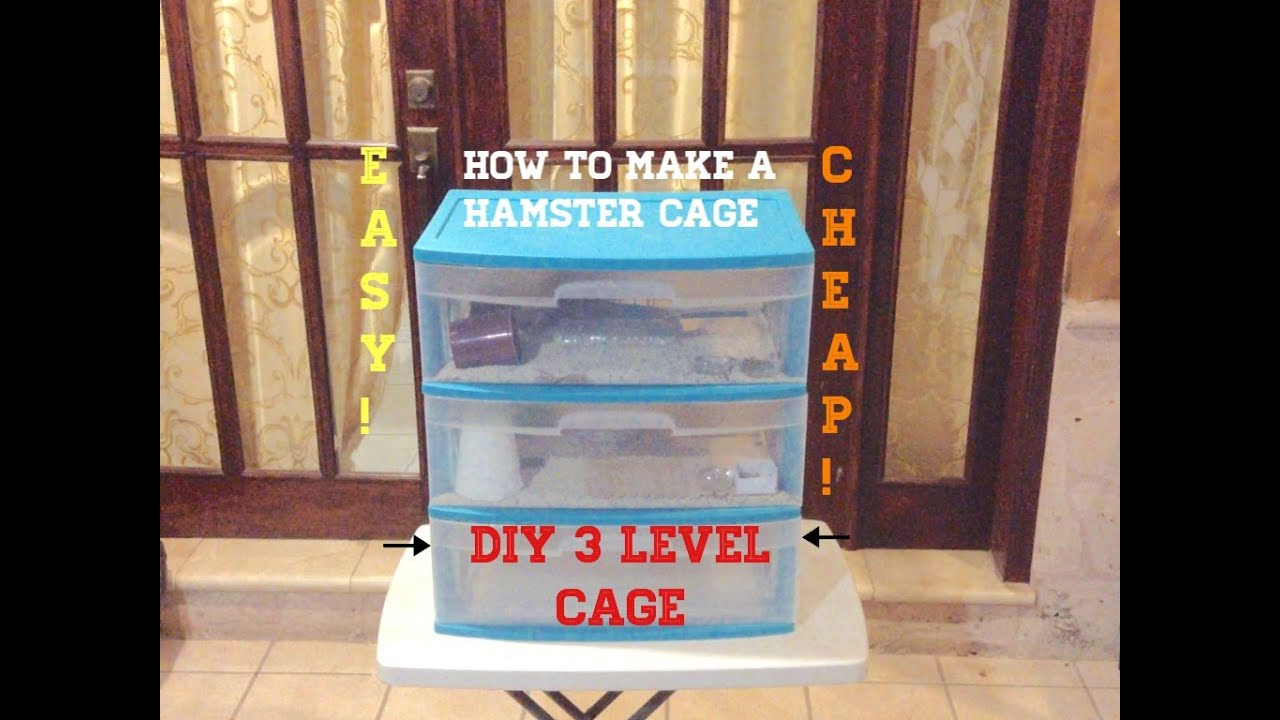 Hamster cage diy 3 levels animal content youtube for How to build a hamster cage