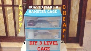 Hamster Cage   Diy   3 Levels!   Animal Content