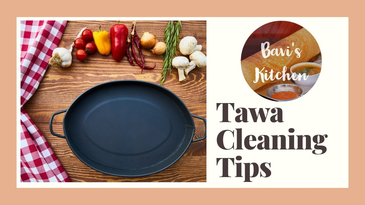 How to clean tawa and maintain - tips - YouTube