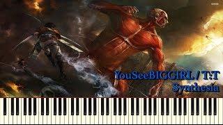 YouSeeBIGGIRL / T:T (FULL) Attack On Titan 進撃の巨人 (Piano Solo)