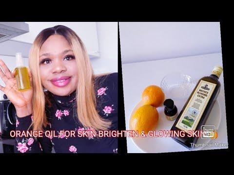 HOW TO MAKE ORANGE OIL FOR LIGHTENING & GLOWING SKIN 🍊 |