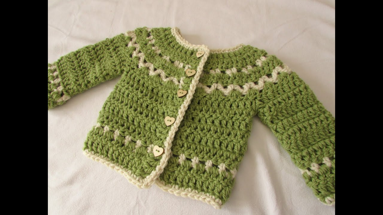 How to crochet a chunky, fair isle children's sweater / cardigan ...