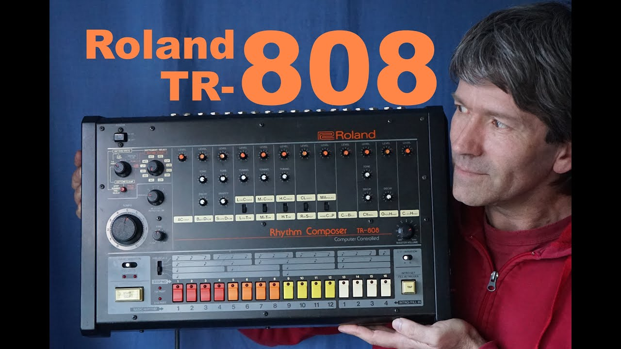 roland tr 808 rhythm composer drum machine teardown mf 73 youtube. Black Bedroom Furniture Sets. Home Design Ideas