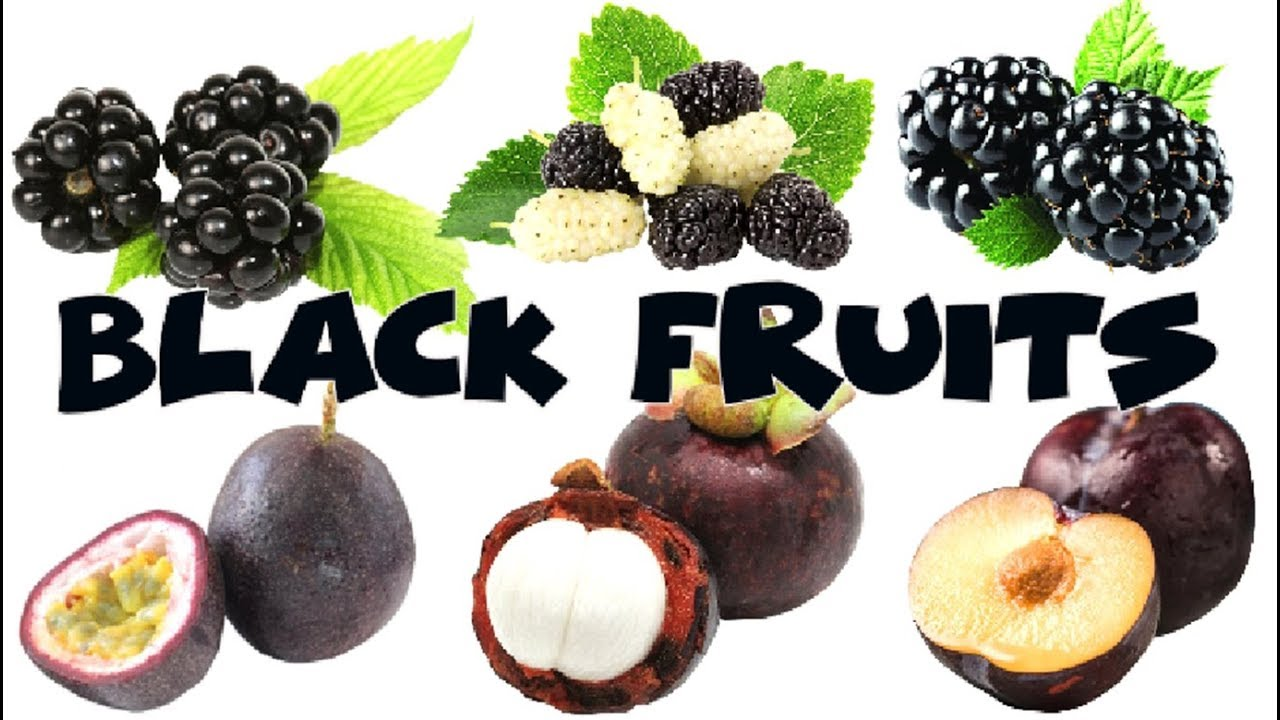 Learn Names Of Black Fruits In English Color Kids Youtube