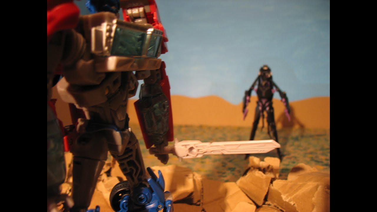 Transformers 3 Airachnid Vs Optimus Prime Stop Motion
