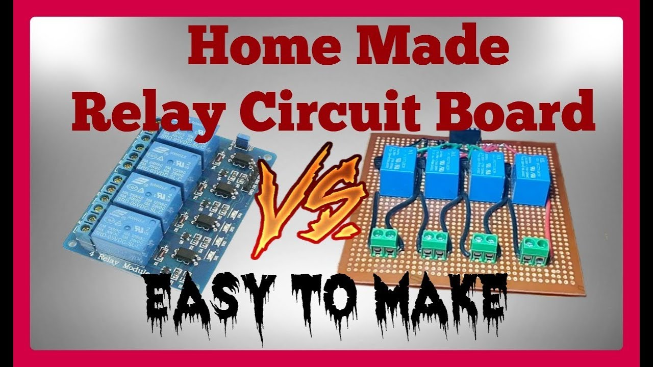 how to make relay circuit board for arduino [ 1280 x 720 Pixel ]