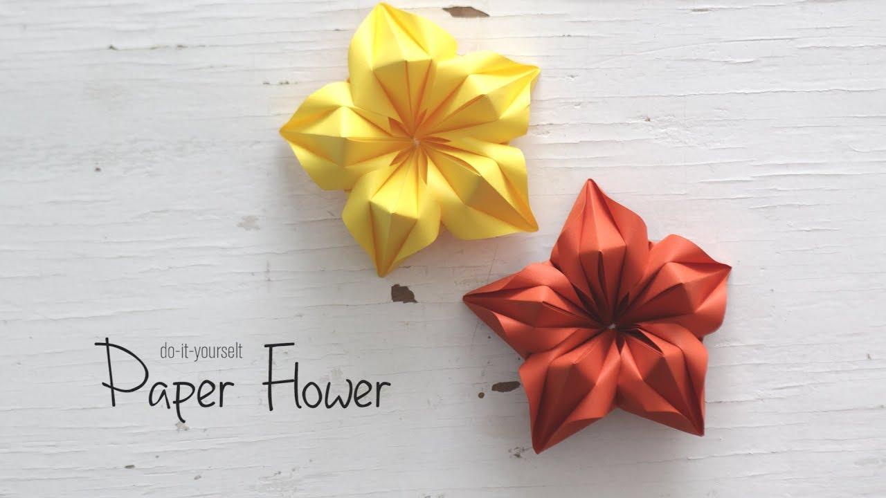 Diy Paper Flower Paper Craft Handcraft Youtube