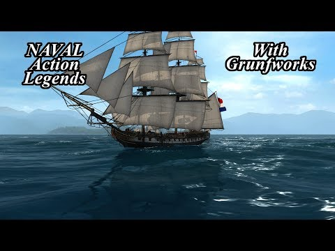 Naval Action Legends Sailing Around in The Essex with Grunfworks!