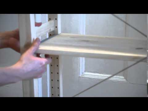 in 35 seconds ikea ivar shelving unit assembly youtube. Black Bedroom Furniture Sets. Home Design Ideas