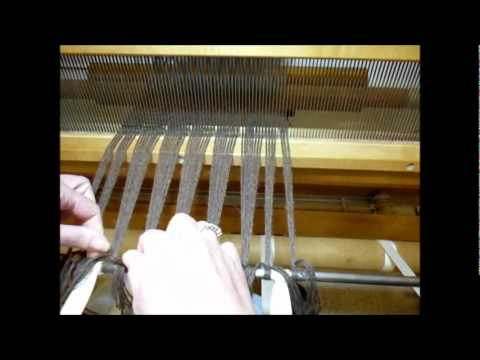 How to Weave on a Loom - Video 14 - Tying the Warp On