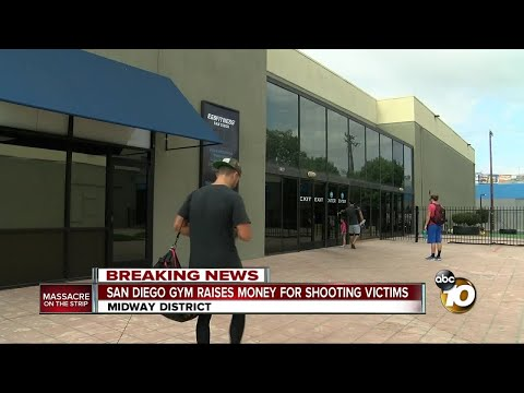 San Diego gym raises money for shooting victims