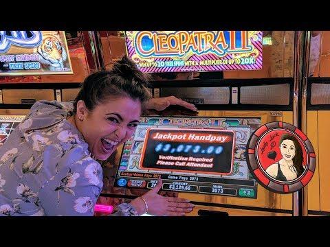 LAS VEGAS SLOT MACHINE JACKPOT on CLEOPATRA 2 | HANDPAY | Encore LV
