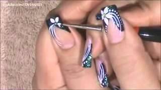 Красивая роспись нарощенных гелевых ногтей!(Мастер класс как сделать роспись ногтей самой себе в домашних условиях. Такой красивый дизайн ногтей смотр..., 2013-08-20T17:32:09.000Z)