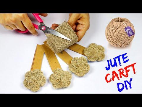 Jute rope craft idea for home decorating | art and craft jute work | jute craft tutorial