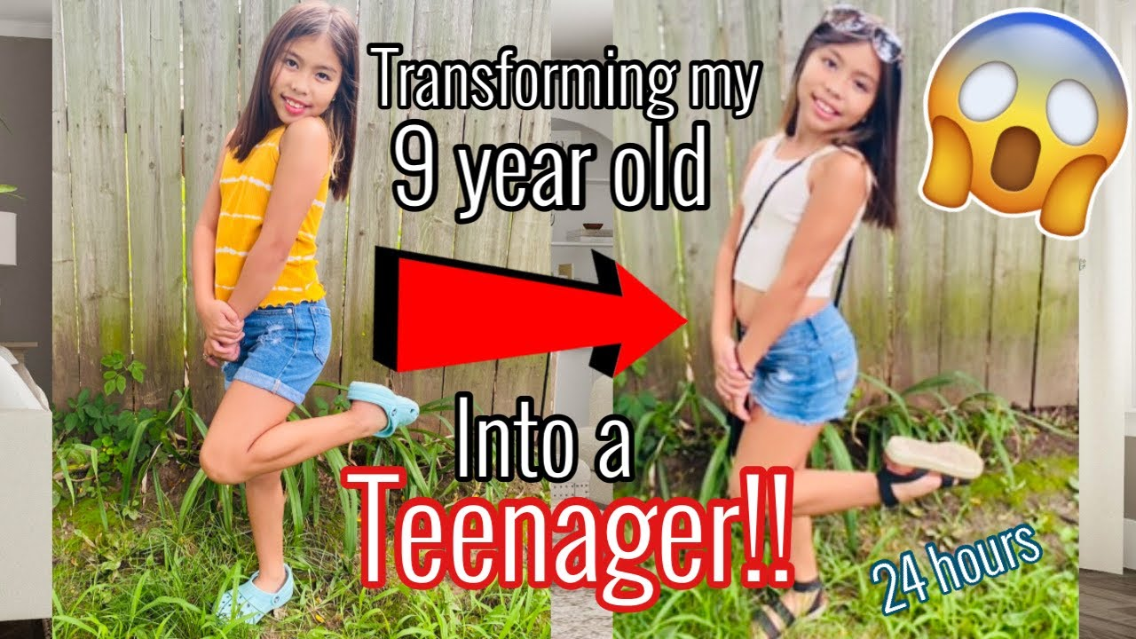 TURNING MY 9 YEAR OLD INTO A TEENAGER