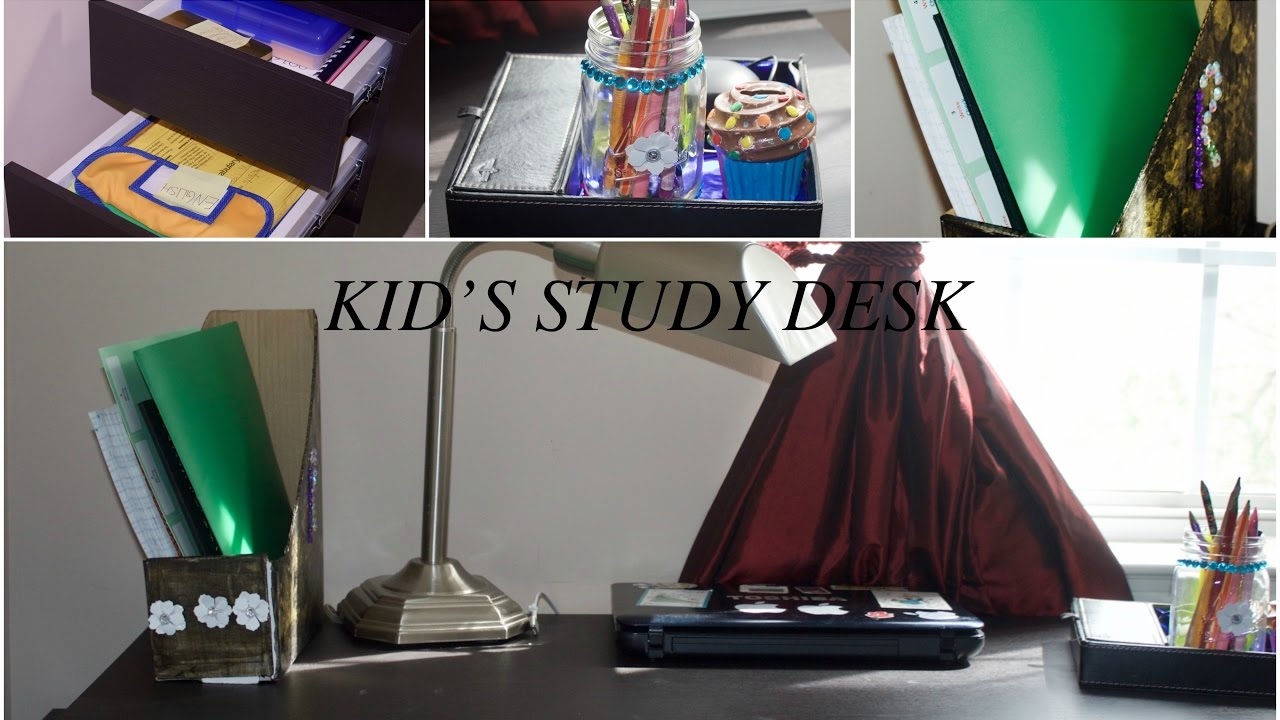 kids study desk organization ideas diy desk organizer kids study desk organizing ideas. Black Bedroom Furniture Sets. Home Design Ideas