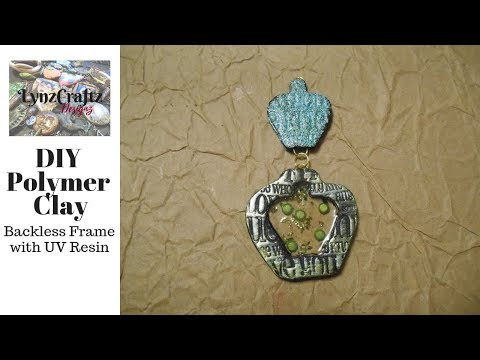 DIY Polymer Clay Backless Frame and UV Resin